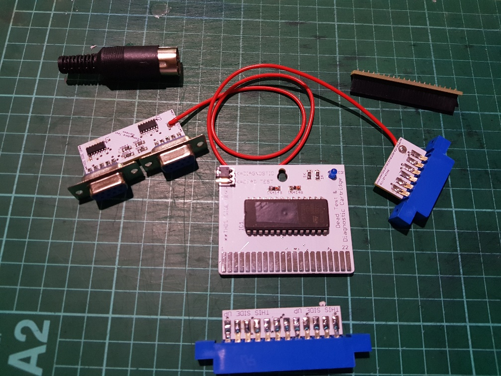 C64 Dual Dead Test & Diagnostic Cartridge & full test Harness