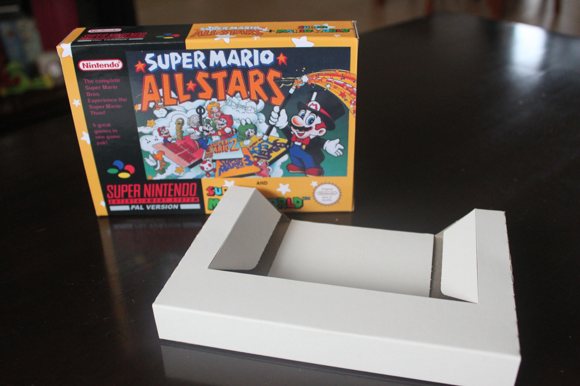 Super Mario All Star + Super Mario World Box and cart insert onl