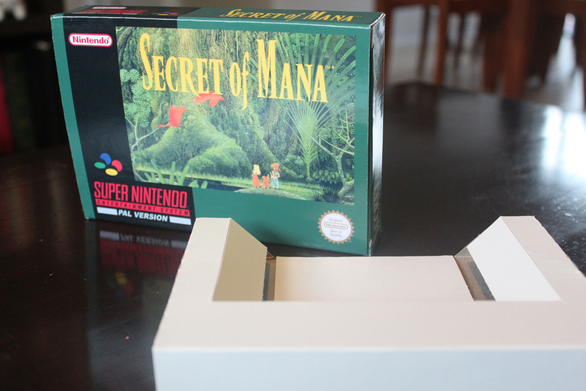 Secret Of Mana Box and cartridge insert Only